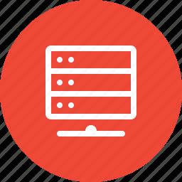 data, database, device, network, safe, server, storage icon