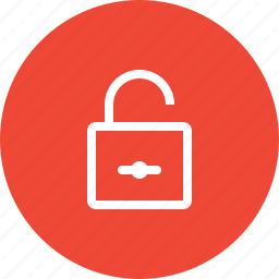 insecure, open lock, protection, public, security, unlock, unlocked icon