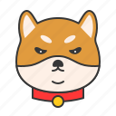 animal, dog, emoji, emotion, pet, shiba icon