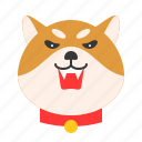 animal, dog, emoji, emoticon, pet, shiba icon