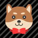 animal, dog, emoji, emoticon, pet, shiba icon