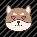 animal, dog, emoji, emoticon, pet, shiba