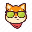 cool, dog, emoticon, inu, shiba icon