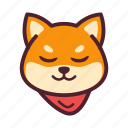 emoticon, inu, shiba, smile icon