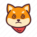 confuse, dog, emoticon, inu, shiba icon