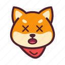 dog, emoticon, inu, shiba icon