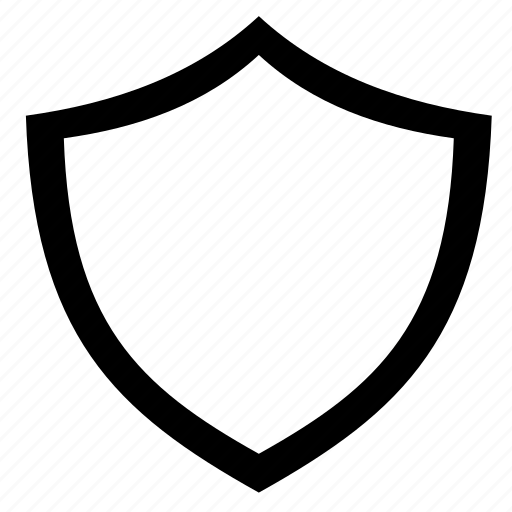 line, outline, protection, safe, shield icon