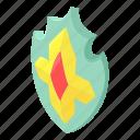 cartoon, crown, frame, heraldic, imperial, isometric, shield