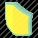 cartoon, element, emblem, isometric, logo, security, shield