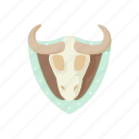 animal, blog, bull, cartoon, horn, site, stuffed icon