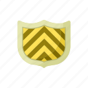 blog, cartoon, hilt, iron, shield, site, striped icon