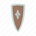 angled, blog, cartoon, hilt, ornament, shield, site icon