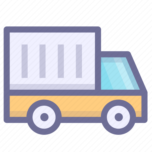 convey, haul, ship, transport, vehicle icon