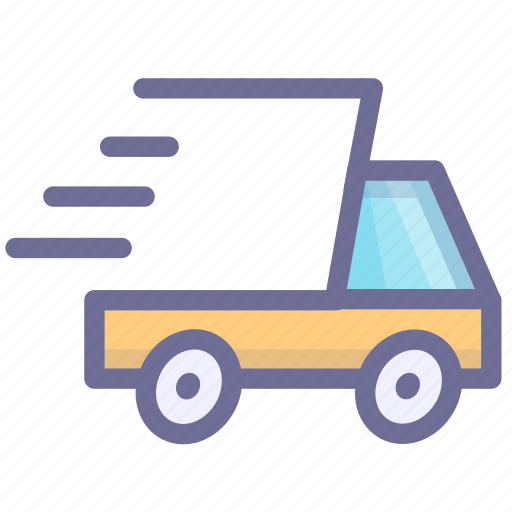 convey, express delivery, haul, ship, transport, vehicle icon