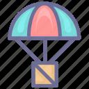 airdrop, deliver icon