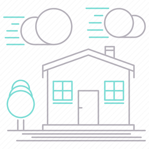 delivery, house, location, shipping, transportation icon