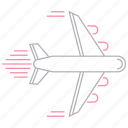 delivery, fly, plane, shipping, transportation icon