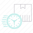 clock, delivery, shipping, timer, transportation icon