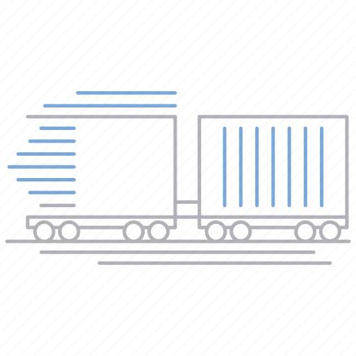 delivery, fast, shipping, train, transportation icon