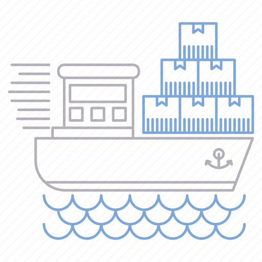 delivery, logistics, ship, shipping, transportation icon