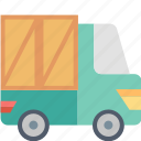 car, delivery, logistics, package, shipping, transport, truck icon