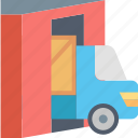 box, car, package, service, shipping, transportation, vehicle icon