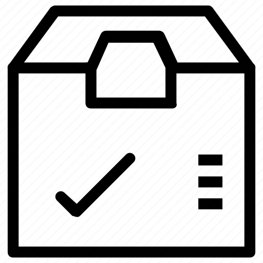 box, confirm, delivery, package icon
