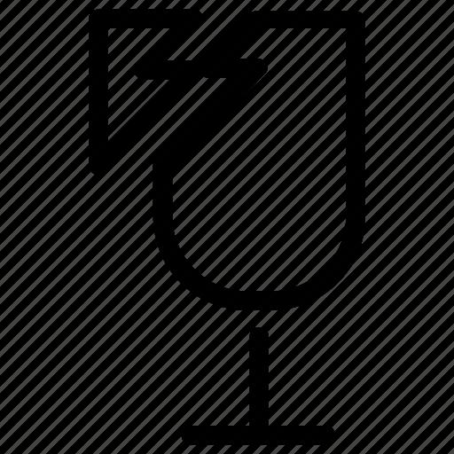 broken, delivery, fragile icon