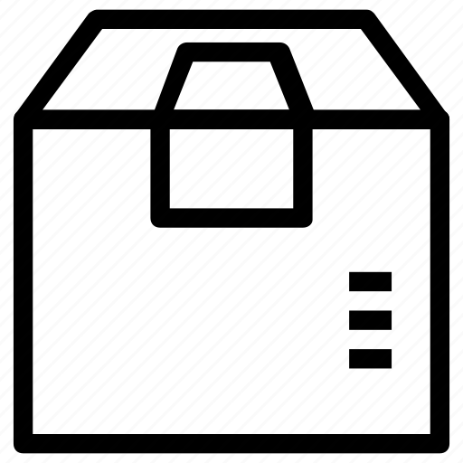 box, crate, package icon