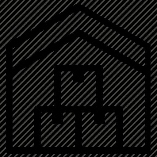box, building, home, warehouse icon