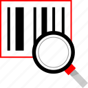 barcode, code, scan, search icon