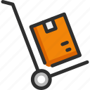 box, cart, delivery, package, shipping, truck icon