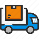 box, car, delivery, package, shipping, van icon