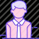 man, tie, worker icon