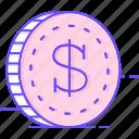coin, dollar, money icon