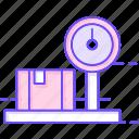 box, luggage, scale icon