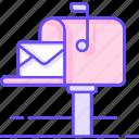 box, letter, mail, post, send icon