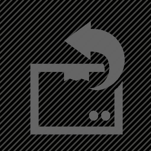 Back, box, delivering, package, return, sending, shipping icon - Download on Iconfinder