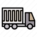 cargo, truck, delivery, shipping, vehicle