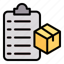 delivery, list, logistic, box, package
