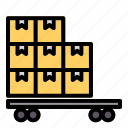 train, cargo, delivery, transport, package