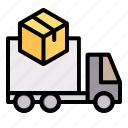 truck, delivery, shipping, box, order