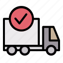 truck, delivery, shipping, complete, order