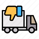 truck, delivery, shipping, order, dislike