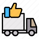 truck, delivery, shipping, order, like