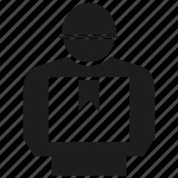 box, delivery, man icon