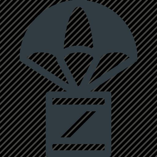 delivery, drop icon
