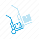 box, carry, cart, delivery, shipping icon