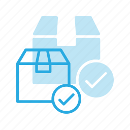 box, check, delivery, shipping icon