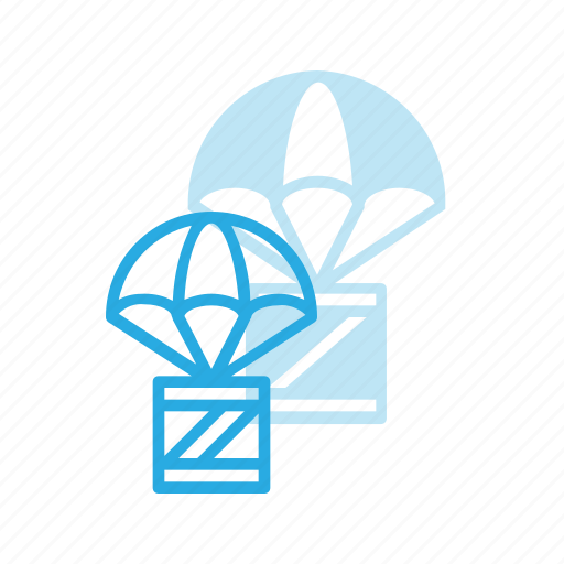 box, delivery, drop, shipping icon